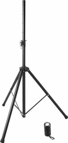 On Stage SS7725 Tripod Speaker Stand by On Stage. $39.95. On Stage SS7725 Tripod Speaker StandOn Stage SS7725B tripod speaker stand is all steel to give you superior quality and a weight capacity of 120 lbs! Features include a 2- section vertical shaft with eight preset height adjustment holes and locking pin for added security. Locking/Retractable leg housing with 120 degrees design for low center of gravity and equal weight distribution. This stand is universal for a...
