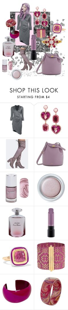 """""""nicole miller"""" by erggoe ❤ liked on Polyvore featuring Nicole Miller, Betsey Johnson, Chinese Laundry, Mulberry, Forever 21, Shiseido, MAC Cosmetics, Alice Cicolini, Assya London and Hermès"""