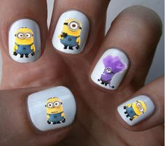 Despicable Me Minions Nail Art Decals Nail by ILoveNailDecals, $4.50