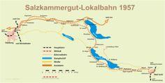 Strecke der Salzkammergut-Lokalbahn