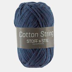 Garn cotton string lys marine