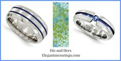 Edward Mirrell Anodized Rings. His and Hers! http://www.elegantmensrings.com/