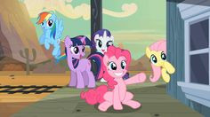 Rainbow Dash, Twilight Sparkle, Rarity, Fluttershy and Pinkie Pie