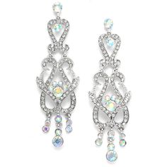 Art Nouveau Crystal Chandelier Earrings