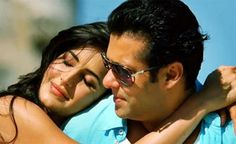 """""""It's very easy to fall in love with Katrina Kaif on screen and off it,"""" Salman Khan told the media during the launch of a new song Mahshallah from their film Ek Tha Tiger at Galaxy theatre in the western suburb of Bandra in Mumbai. Bollywood Couples, Bollywood Cinema, Bollywood Girls, Bollywood Stars, Bollywood News, Ek Tha Tiger, Katrina Kaif, Salman Katrina, Salman Khan Wallpapers"""