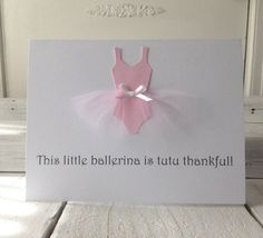 Ballerina Party Thank You Card Light Pink Set of 6 by shopfluff, $12.00