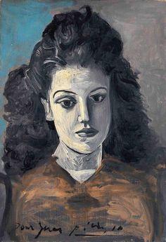 Pablo Picasso – Portrait d'Inès, 1942.