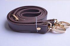 Wento 1pcs 43''-49'' Pu Dark Brown Leather Adjustable Bag Strap,soft Leather Shoulder Straps,replacement Cross Body Purse Straps,handbag Bag Wallet Straps (Gold) - http://leather-handbags-shop.com/wento-1pcs-43-49-pu-dark-brown-leather-adjustable-bag-strapsoft-leather-shoulder-strapsreplacement-cross-body-purse-strapshandbag-bag-wallet-straps-gold/
