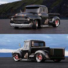Old Ford Trucks, Old Pickup Trucks, Custom Trucks, Custom Cars, Classic Pickup Trucks, Chevy Muscle Cars, Top Cars, Vintage Trucks, Amazing Cars