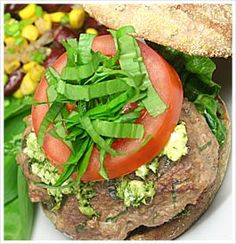 Turkey gucamole burger =)