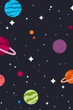 Pop Art Wallpaper, Planets Wallpaper, Wallpaper Space, Wallpaper Iphone Cute, Galaxy Wallpaper, Pattern Wallpaper, Cute Wallpapers, Wallaper Iphone, Planet Drawing