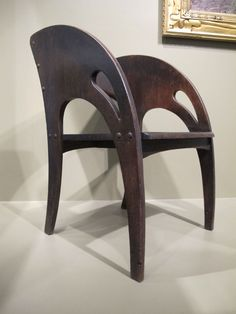 J.S. Ford, Johnson and Co. (1904 or 1905). Armchair made from oak, clearly screwed together.