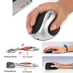 5e128947c4c US $10.69 55% OFF|Aliexpress.com : Buy HXSJ Ergonomic Wireless Mouse  Desktop Portable Universal Wireless Vertical Optical Mice with 2400DPI for  Laptops PC ...