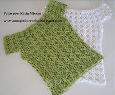Fabulous Crochet a Little Black Crochet Dress Ideas. Georgeous Crochet a Little Black Crochet Dress Ideas. Crochet World, Mode Crochet, Crochet Yoke, Crochet Shirt, Tunisian Crochet, Crochet Stitches, Crochet Baby, Easy Crochet Patterns, Crochet Clothes
