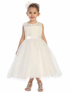 Ivory Rose Lace Bodice w/ Tulle Skirt