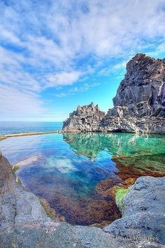 Rock pool, Portugal