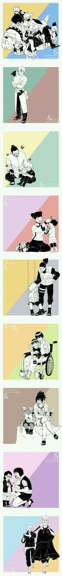 Boruto's gen and Naruto's gen