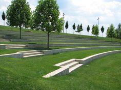 Landscape Stairs, Urban Landscape, Landscape Architecture, Landscape Design, Garden Design, Modern Landscaping, Garden Landscaping, Outdoor Learning Spaces, Outdoor Steps