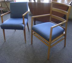 Pair Of MidCentury Modern Chairs by JunkJewel on Etsy, $160.00