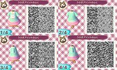 Animal Crossing: New Leaf: Kawaii Bunny Outfit QR Code