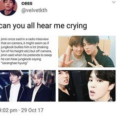 Jikook <<<<< to be honest yeah that's what I expect thay went on a vacation together and when you make fun of people like that your bond must be strong