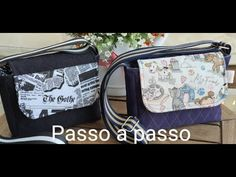 Bolsa Lille, INICIANTES ! - YouTube Lunch Box, Patches, Youtube, Fabric Purses, Kitchen, Scrappy Quilts, Backpacks, Totes, Bento Box