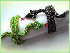 """Мастер-класс по изготовлению браслета """"Змейка"""" из бисера - Ярмарка Мастеров - ручная работа, handmade"""