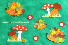 Ježek a houbičky