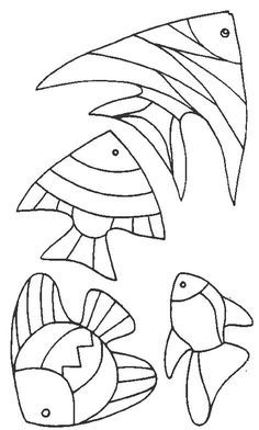 Stained Glass Projects, Stained Glass Patterns, Mosaic Patterns, Fish Patterns, Fish Coloring Page, Coloring Book Pages, Free Coloring, Adult Coloring, Applique Patterns