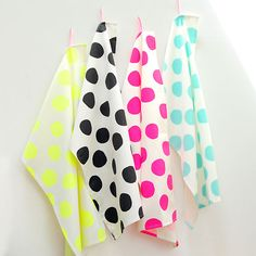 Anne Hubert Tea Towels - polka dots