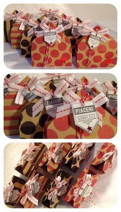 Scatoline ( create con la Envelope Punch Board) per un dolce regalino alle mie ospiti!