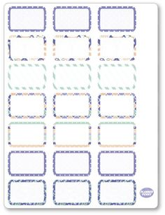 One x sheet of planner stickers cut and ready for use in your planner, calendar, or scrapbook!Please see the FAQ tab for information on sticker material and pen use. Planners Like Erin Condren, Erin Condren Life Planner, Summer Holiday Activities, Name Tag For School, Personalised Calendar, Custom Planner, Name Stickers, Free Planner, Printable Planner Stickers