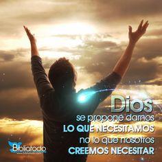 Dios nos da lo que el sabe que necesitamos, no lo que nosotros creemos necesitar