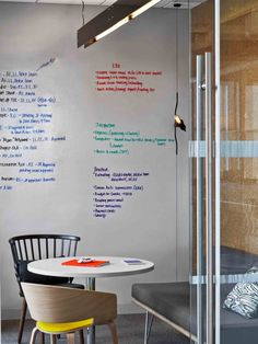 Hudson Rouge NYC Small Meeting Room - Dry erase wall - Home Decorating Trends - Homedit Corporate Office Design, Office Interior Design, Office Interiors, Cool Office, Small Office, Office Ideas, Coworking Space, Mini Sala, Office Meeting