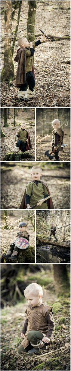 Viking and Hunter: A simple guide on how to do a Norse themed children's photo shoot with costume, prop and location ideas from findingstorybookland.com