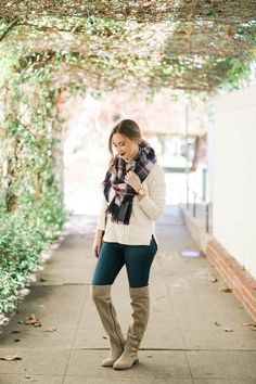 casual fall outfit with over the knee boots Botas 22f2125573137