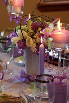 pastels for Spring #wedding #centerpieces