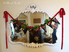 Tartan plaid garland from out Chruchmouse Yarn Christmas theme this year. Clarice