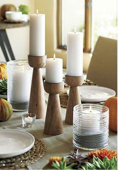 #wood candle holder