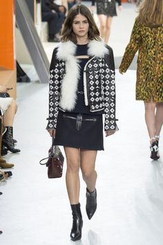 On the catwalk at Louis Vuitton Autumn-Winter 2015 Fashion Show #PFW #Louis Vuitton #RTW #AW15 #LVMH