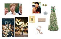 """Prince Harry and Sofia Carafa attending the wedding of Princess Diana's nephew George McCorquodale"" by sofia-carafa-warwick ❤ liked on Polyvore featuring Roberto Cavalli, Dsquared2, Prada and Devon Leigh"