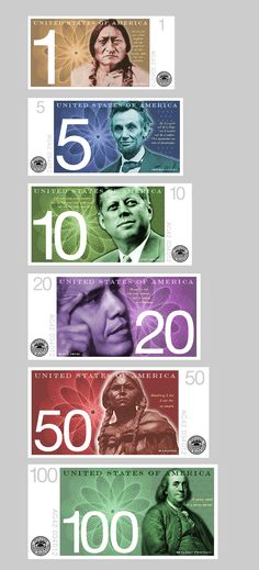 62 Best New Us Banknote Design Images