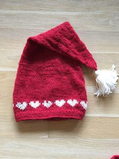 Baby Hats Knitting, Knitting For Kids, Baby Knitting Patterns, Knitting Projects, Knitted Hats, Sewing Projects, Holiday Hats, Knit Stockings, Christmas Crochet Patterns