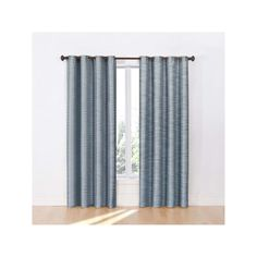 eclipse Dylan Thermalayer Blackout Window Curtain, Blue