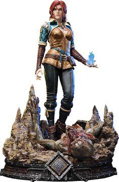 The Witcher Wild Hunt Triss Merigold of Maribor Statue by The Witcher Game, The Witcher Geralt, Witcher 3 Wild Hunt, Witcher Figure, Witcher Tattoo, 3d Figures, Action Figures, Sideshow Figures, Triss Merigold