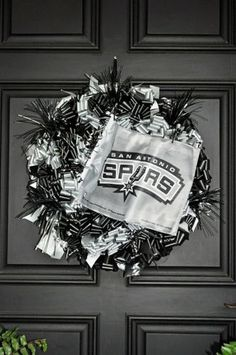 Get Your Spurs On San Antonio Spurs Wreath by Bonnieharmsdesigns, $116.00