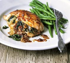 Chicken stuffed with spinach & dates recipe - Recipes - BBC Good Food
