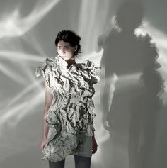 Crumpled Paper Cocktail Dress