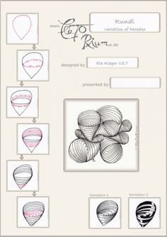 Rundl - tangle by Ela Rieger, CZT