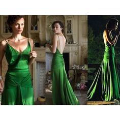 The dress Keira Knightley wears in Atonement
